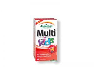 JAMIESON MULTI KIDS Tablety na cmúľanie pre deti 60 tabliet