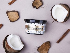 L´Cosmetics Fresh Time Cukrový peeling na telo Vanilka s prírodnou kokosovou šťavou 280g