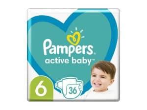 PAMPERS Active Baby jednorazové plienky veľ. 6, 36 ks, 13-18 kg