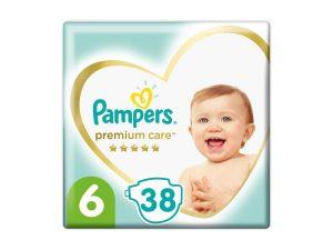 PAMPERS Premium Care jednorazové plienky veľ. 6, 38 ks, 13 kg+