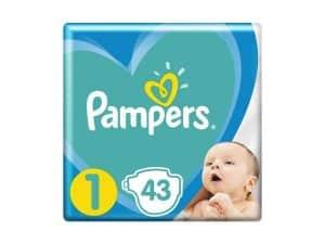 PAMPERS Plienky New Baby-Dry 1 NEWBORN 2-5kg 43ks